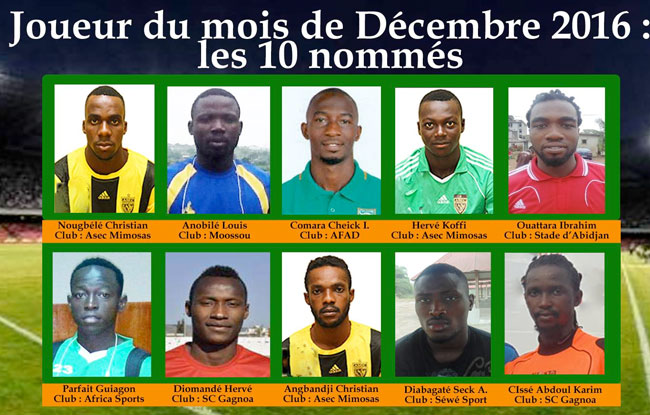 Les 10 nominés de décembre