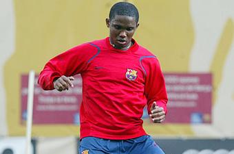 Football/ FC Barcelone, Eto'o : «Ça nous est égal si Ronaldinho s'en va»