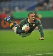Rugby/ MOndial France 2007: Les Boks en finale avec le sourire