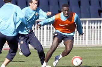 Football/ FC Barcelone : Marco à l'essai