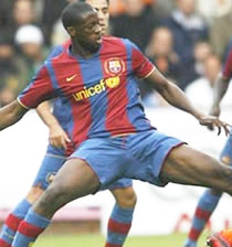 Football/  Barcelone-Lyon, Touré Yaya: