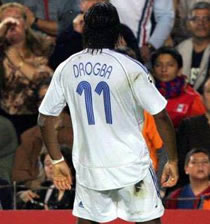 "Football/ Angleterre: Drogba "" ne peux parler pas d'avenir"" avec Chelsea"