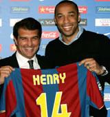 Football/ Transferts: Thierry Henri  a le 14 de Cruyff