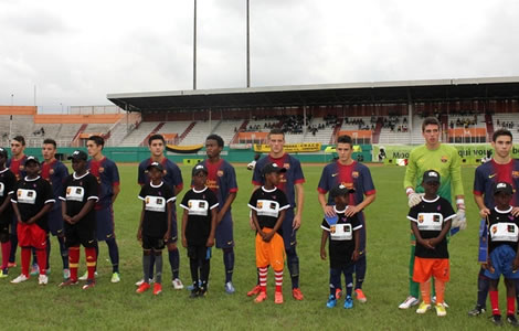 Le Barça en attraction à Abidjan
