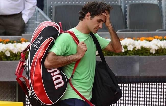Federer, le coup de la panne